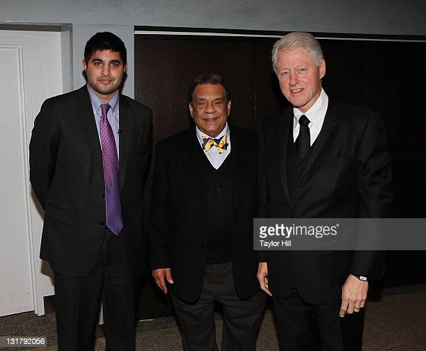 Author Kabir Sehgal Ambassador Andrew Young and former President Bill Clinton attend the 'Walk In My Shoes Conversations Between A Civil Rights...