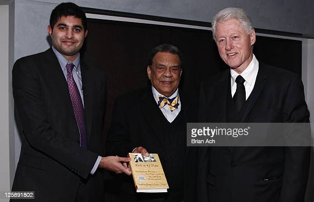 Author Kabir Sehgal Author and Ambassador Andrew Young and President Bill Clinton attend the 'Walk In My Shoes Conversations Between A Civil Rights...