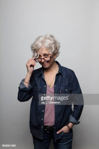 Author Kate DiCamillo is photographed for Los Angeles Times on April 21 2018 in the LA Times Studio at the Los Angeles Times Festival of Books at the...