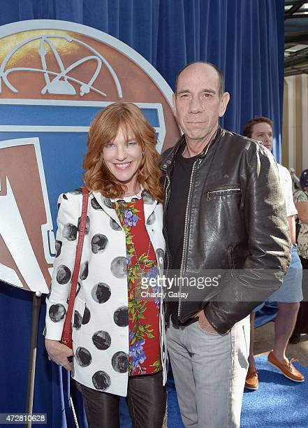 Author Kate Hannan and actor F Murray Abraham attend the world premiere of Disney's Tomorrowland at Disneyland Anaheim on May 9 2015 in Anaheim...