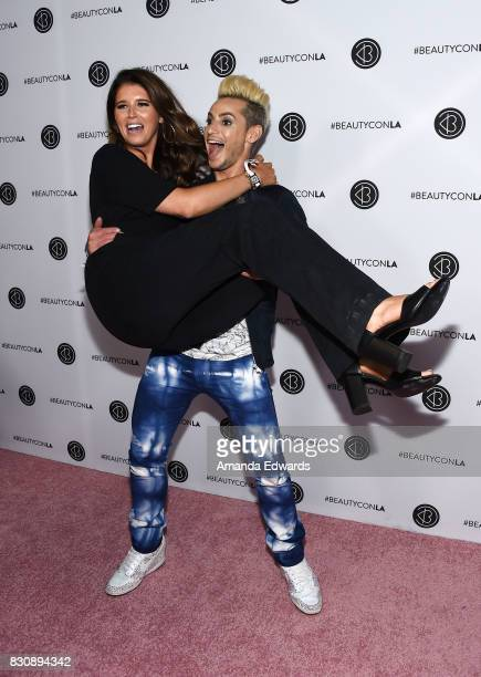 Author Katherine Schwarzenegger and dancer Frankie Grande attend the 5th Annual Beautycon Festival Los Angeles at the Los Angeles Convention Center...