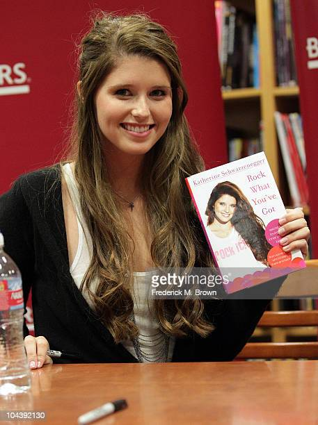 Author Katherine Schwarzenegger poses for photographers during book signing for her book Rock What You've Got at Boarder Books on September 23 2010...
