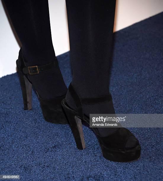 Author Katherine Schwarzenegger shoe detail arrives at the International Women's Media Foundation Courage Awards at the Beverly Wilshire Four Seasons...