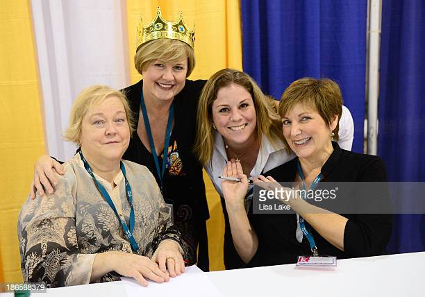 Author Kathy Kinney Jeanna Spence Kelly A Meerbott and author Cindy Ratzlaff attend the Pennsylvania Conference For Women 2013 at Philadelphia...