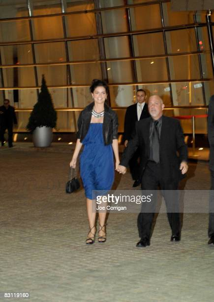 Author Katie Lee Joel and musician Billy Joel attend Howard Stern's and Beth Ostrosky 's wedding at Le Cirque on October 3, 2008 in New York City.