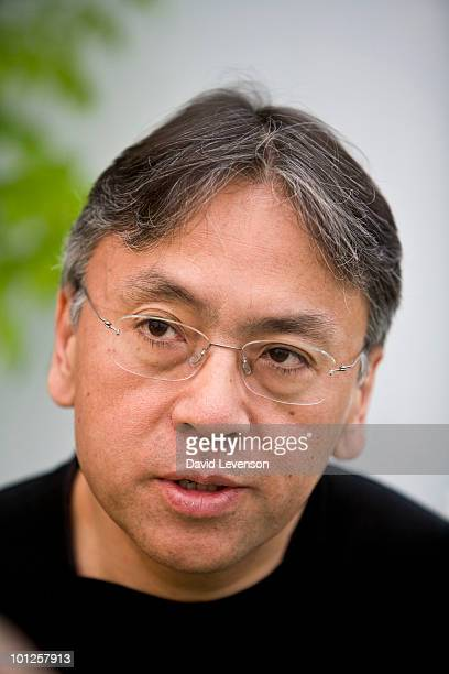 Author Kazuo Ishiguro poses for a portrait at The Hay Festival on May 29 2010 in HayonWye Wales The Annual Hay Festival of Literature Arts is held in...