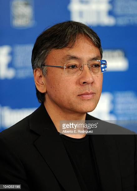 Author Kazuo Ishiguro speaks at 'Never Let Me Go' press conference during the 2010 Toronto International Film Festival at the Hyatt Regency on...