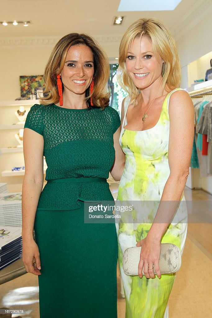 Author Kelly Florio Kasouf and actress Julie Bowen attend Oscar de le Renta and author Kelly Florio Kasouf invite children to shop the Spring 2013 Collections and Limited Edition 'Sophie Party Dress' at Oscar de La Renta Boutique on April 23, 2013 in West Hollywood, California.