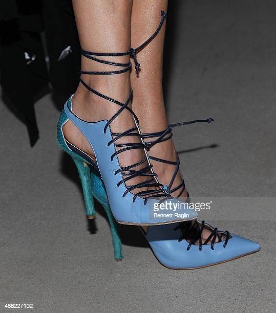 Author Kelly Wearstler shoe detail attends the Libertine fashion show during Spring 2016 New York Fashion Week The Shows at The Gallery Skylight at...