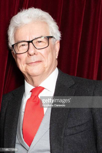 Author Ken Follett poses for photographer at the Bookcity Milan 2019 on November 17 2019 in Milan Italy