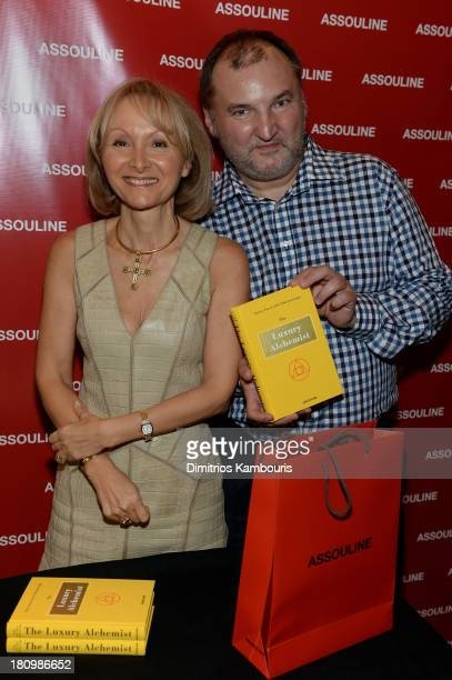 Author Ketty PucciSisti Maisonrouge and Managing Director at Longchamp Olivier Cassegrain attend ASSOULINE Martine and Prosper Assouline host a book...