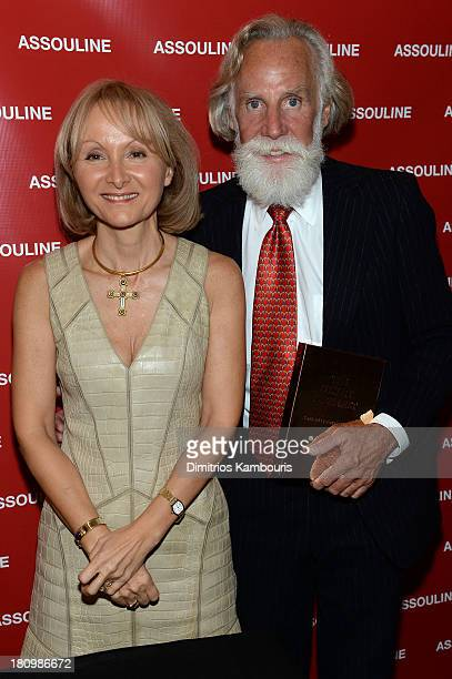 Author Ketty PucciSisti Maisonrouge and Paul Vogel attend ASSOULINE Martine and Prosper Assouline host a book signing for Ketty PucciSisti...