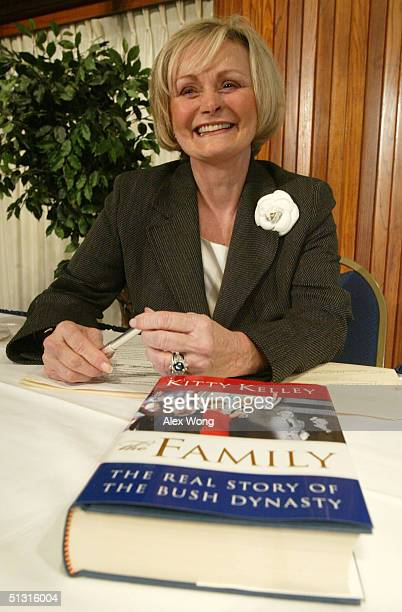 """Author Kitty Kelley attends a book discussion at the National Press Club September 16, 2004 in Washington, DC. Kelley talked about her new book """"The..."""