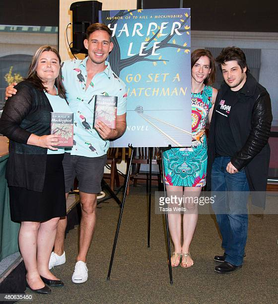 "Author Kristen Kittscher, Author Aaron Hartzler, Author Anna Carey and Author/Producer Josh Sabarra pose for portrait at Celebrate Harper Lee: ""To..."
