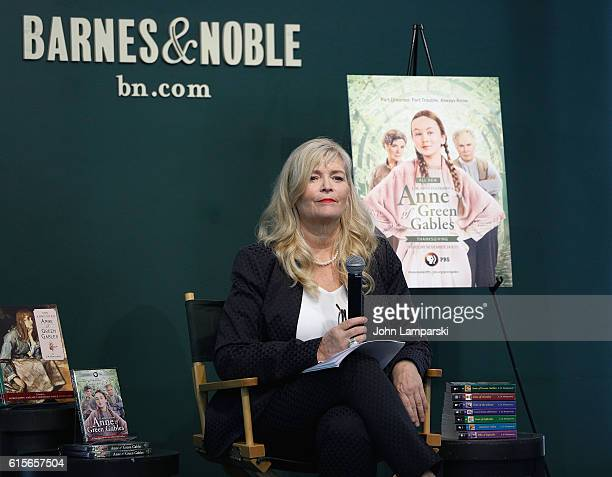 Author L M Montgomery's granddaughter Kate McDonald Butler speaks during the 'Anne Of Green Gables' reading at Barnes Noble Union Square on October...