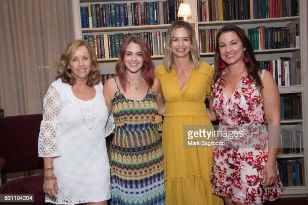 Author Laurie Gelman Taylor Rose Berry Marisa Hermer and Annie Falk attend Hamptons Magazine's Private Dinner Celebrating East Hampton Library...