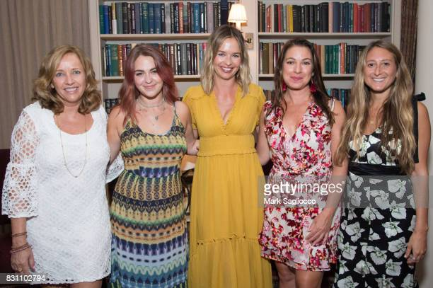 Author Laurie Gelman Taylor Rose Berry Marisa Hermer Annie Falk Jessica Siskin attend Hamptons Magazine's Private Dinner Celebrating East Hampton...