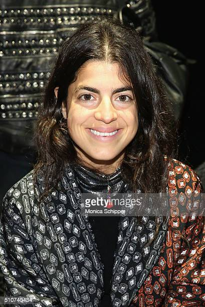 Author Leandra Medine attends the Narciso Rodriguez Fall 2016 fashion show during New York Fashion Week at SIR Stage 37 on February 16 2016 in New...