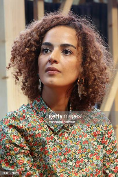 Author Leila Slimani during the announcement of the Prix Goncourt shortlist at the 2017 Frankfurt Book Fair on October 11 2017 in Frankfurt am Main...