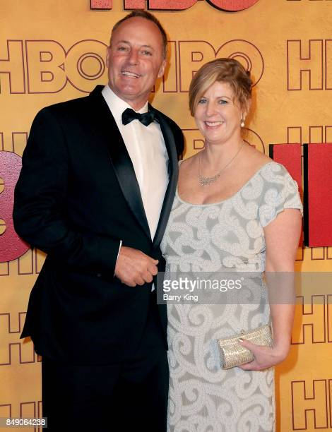 Author Liane Moriarty and guest attend HBO's Post Emmy Awards Reception at The Plaza at the Pacific Design Center on September 17 2017 in Los Angeles...
