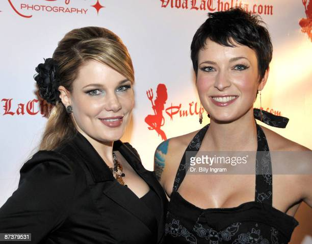 Author Lily Burana and screenwriter Diablo Cody attend the Operation Bombshell benefit event at Trader Vic's At LA Live on May 15 2009 in Los Angeles...