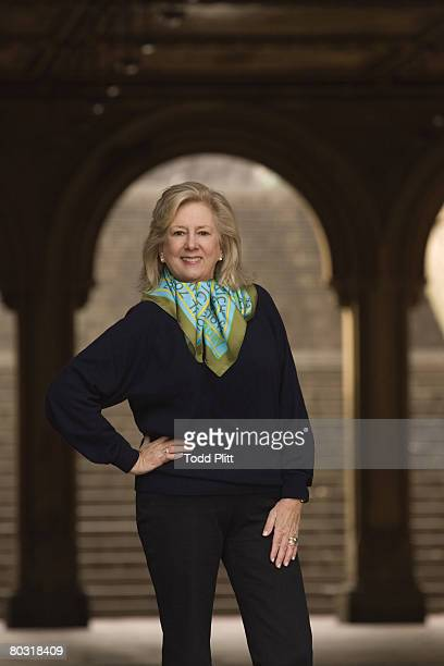 Author Linda Fairstein is photographed in Central Park for USA Today