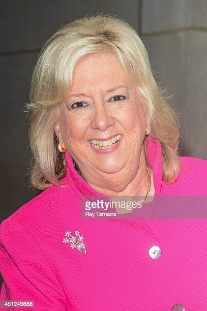 Author Linda Fairstein leaves the Today Show taping at the NBC Rockefeller Center Studios on June 25 2014 in New York City
