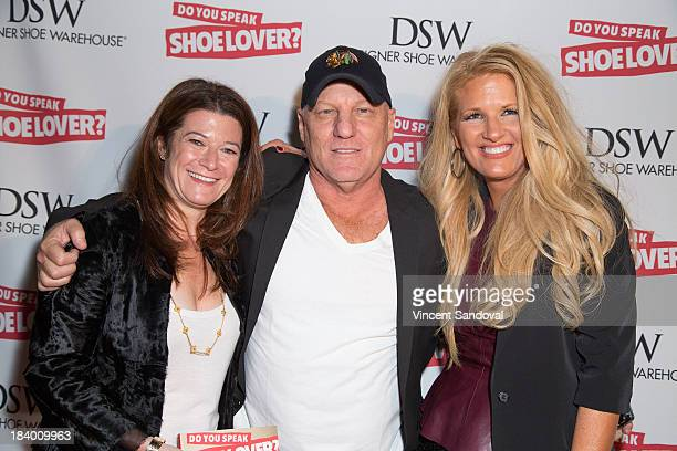 Author Linda Meadow designer Steve Madden and author Kelly Cook attend the Do You Speak Shoe Lover Style And Stories From Inside DSW book launch...