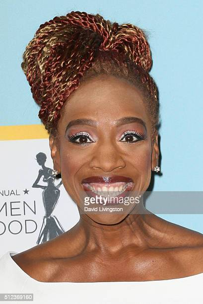 Author Lisa Nichols arrives at the Essence 9th Annual Black Women event in Hollywood at the Beverly Wilshire Four Seasons Hotel on February 25 2016...