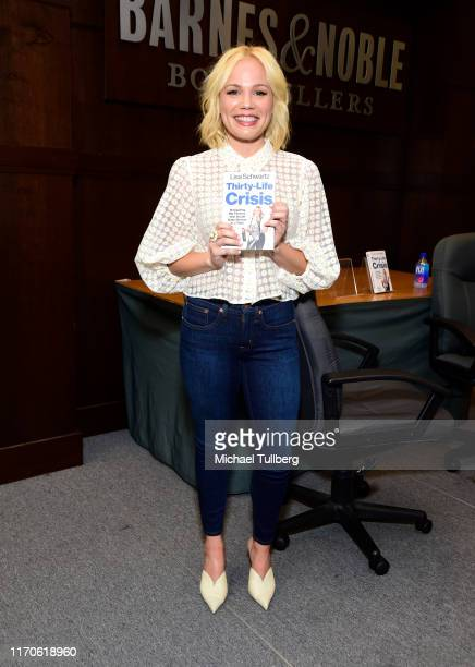 "Author Lisa Schwartz attends a fan event for her new book ""Thirty-Life Crisis"" at Barnes & Noble at The Grove on August 27, 2019 in Los Angeles,..."