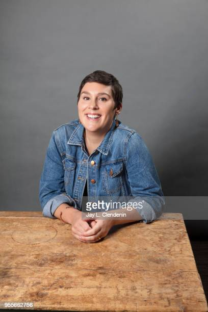 Author Liska Jacobs is photographed for Los Angeles Times on April 21 2018 in the LA Times Studio at the Los Angeles Times Festival of Books at the...