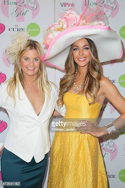 Author Liz Crokin and How2Girl / radio personality Courtney Sixx arrive at the 2nd Annual How2Girl Kentucky Derby Ladies Luncheon on May 2 2015 in...