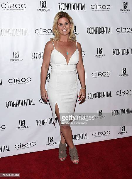 Author Liz Crokin arrives at the Los Angeles Confidential GRAMMY Issue celebration at Exchange LA on February 12 2016 in Los Angeles California