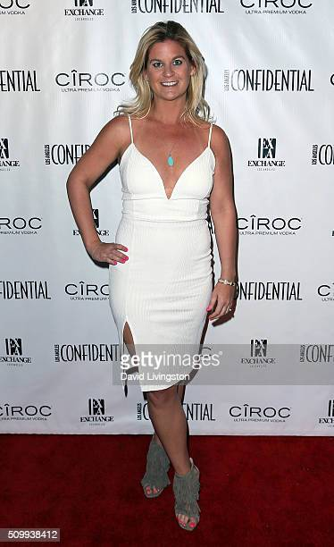 Author Liz Crokin attends Los Angeles Confidential celebrates GRAMMY issue cover star and nominee Mark Ronson at Exchange LA on February 12 2016 in...