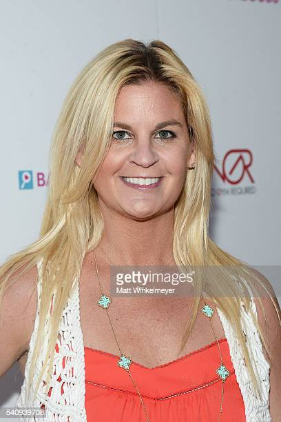 Author Liz Crokin attends the Babes for Boobs Bachelor Auction benefitting the Los Angeles County Affiliate of Susan G Komen on June 16 2016 in Los...