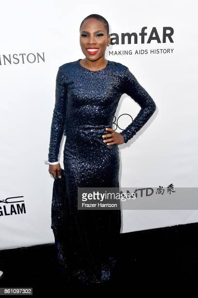 Author Luvvie Ajayi attends the amfAR Gala Los Angeles 2017 at Ron Burkle's Green Acres Estate on October 13 2017 in Beverly Hills California
