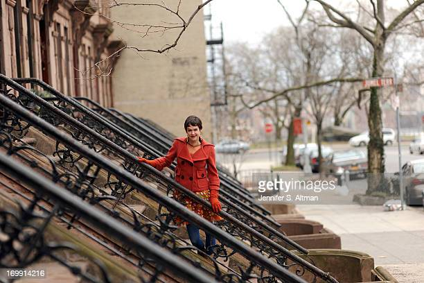 Author Lyndsay Faye is photographed for New York Times on February 28 2013 in New York City