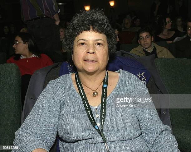 Author Lynne Elkin poses at the Unraveling The Code Rosalind Franklin and DNA panel during the 2004 Tribeca Film Festival May 8 2004 in New York City