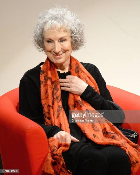 Author Magaret Atwood attends the preview of Hulu's 'The Handmaid's Tale' at the Smithsonian National Museum Of Natural History on April 19 2017 in...