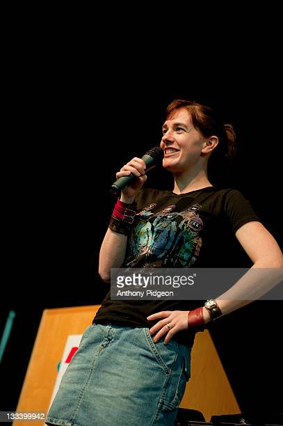 Author Maggie Stiefvater speaks onstage at the 2011 Wordstock Literary Festival at the Oregon Convention Center on October 9 2011 in Portland Oregon