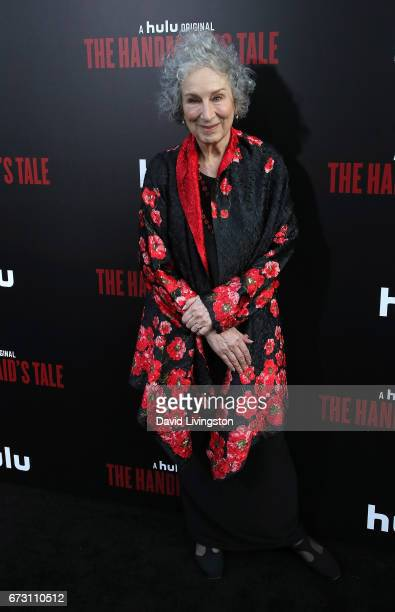 Author Margaret Atwood attends the premiere of Hulu's 'The Handmaid's Tale' at ArcLight Cinemas Cinerama Dome on April 25 2017 in Hollywood California