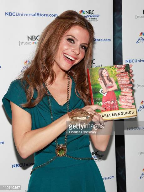 Author Maria Menounos promotes her new book The Everygirl's Guide to Life at the NBC Experience Store on April 13 2011 in New York City