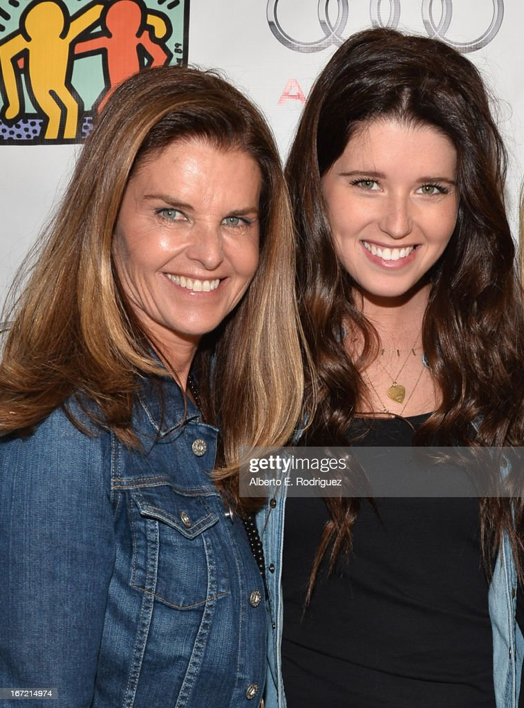 Author Maria Shriver (L) and author Katherine Schwarzenegger attend the Best Buddies' Bowling For Buddies Event at Lucky Strike Lanes at L.A. Live on April 21, 2013 in Los Angeles, California.