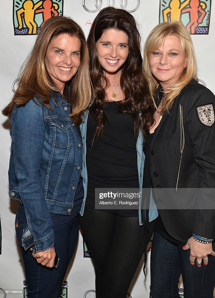 Author Maria Shriver, author Katherine Schwarzenegger and Sheryl Berkoff attend the Best Buddies' Bowling For Buddies Event at Lucky Strike Lanes at L.A. Live on April 21, 2013 in Los Angeles, California.