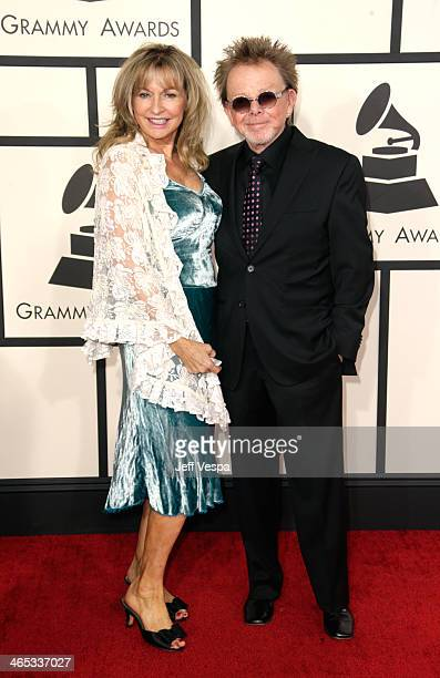 Author Mariana Williams and composer Paul Williams attends the 56th GRAMMY Awards at Staples Center on January 26 2014 in Los Angeles California