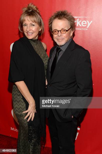 Author Mariana Williams and songwriter Paul Williams attend 2014 MusiCares Person Of The Year Honoring Carole King at Los Angeles Convention Center...
