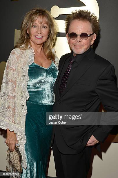 Author Mariana Williams and songwriter Paul Williams attend the 56th GRAMMY Awards at Staples Center on January 26 2014 in Los Angeles California