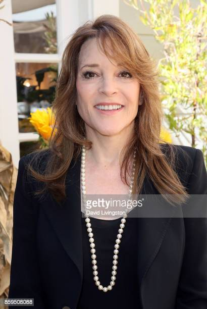 """Author Marianne Williamson attends Hallmark's """"Home & Family"""" at Universal Studios Hollywood on October 9, 2017 in Universal City, California."""