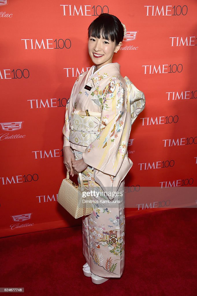 Author Marie Kondo attends 2016 Time 100 Gala, Time's Most Influential People In The World red carpet at Jazz At Lincoln Center at the Times Warner Center on April 26, 2016 in New York City.