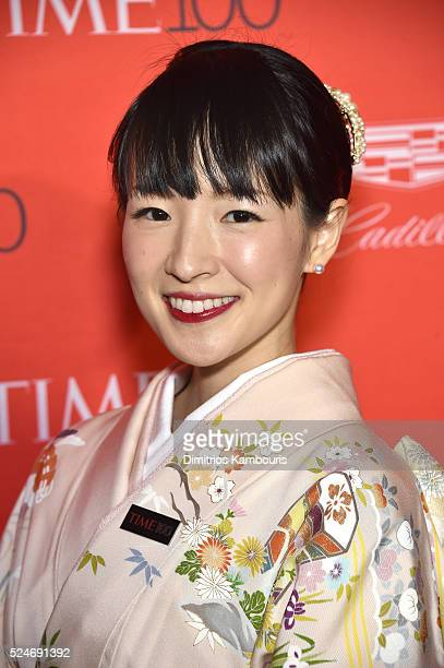Author Marie Kondo attends 2016 Time 100 Gala Time's Most Influential People In The World Cocktails at Jazz At Lincoln Center at the Times Warner...
